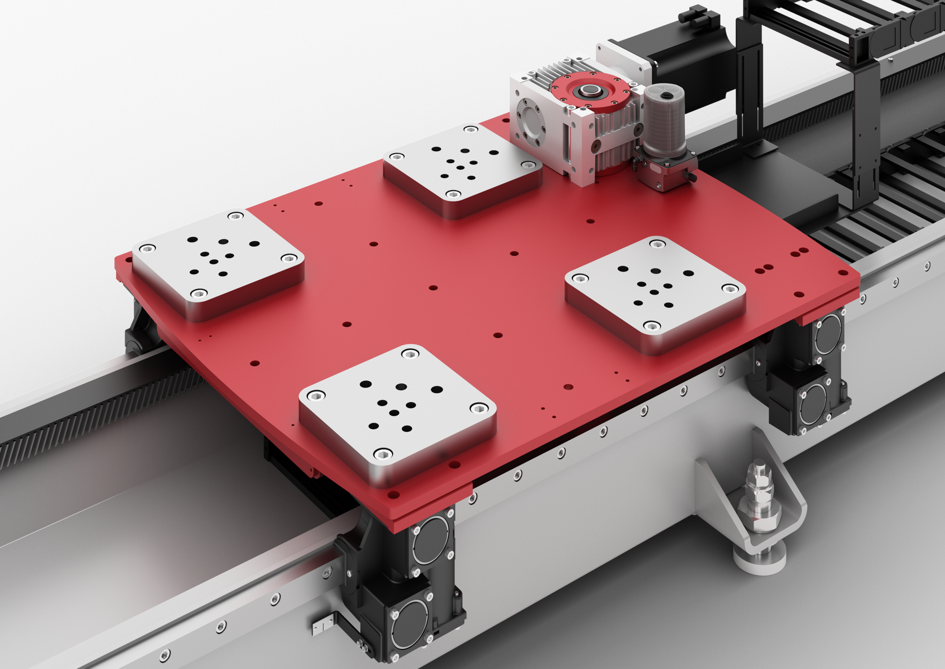 TrackMotion Floor TMF - a linear axis for robots - adapter plate | © Güdel Group AG
